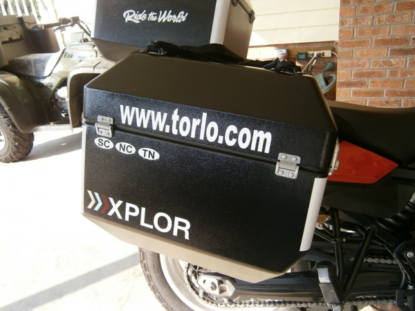 Our website on our bikes.